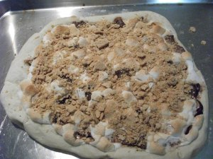 Dusk Snack...Smore Pizza