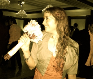 No, I did not catch the bouquet :)