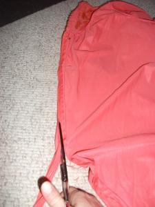 Giddint rid of the zipper