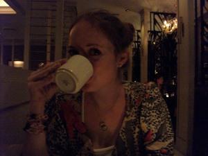 Post dinner café au lait!